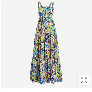 J.Crew Tiered taffeta maxi dress in curly floral